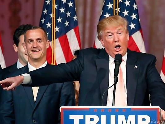 Trump mit seinem Ex-Vertrauten Corey Lewandowski