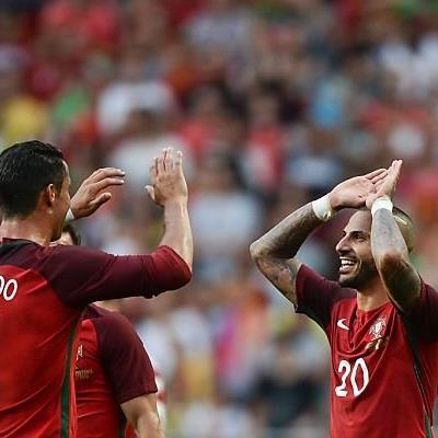 Portugals Sturm-Duo Cristiano Ronaldo und Ricardo Quaresma