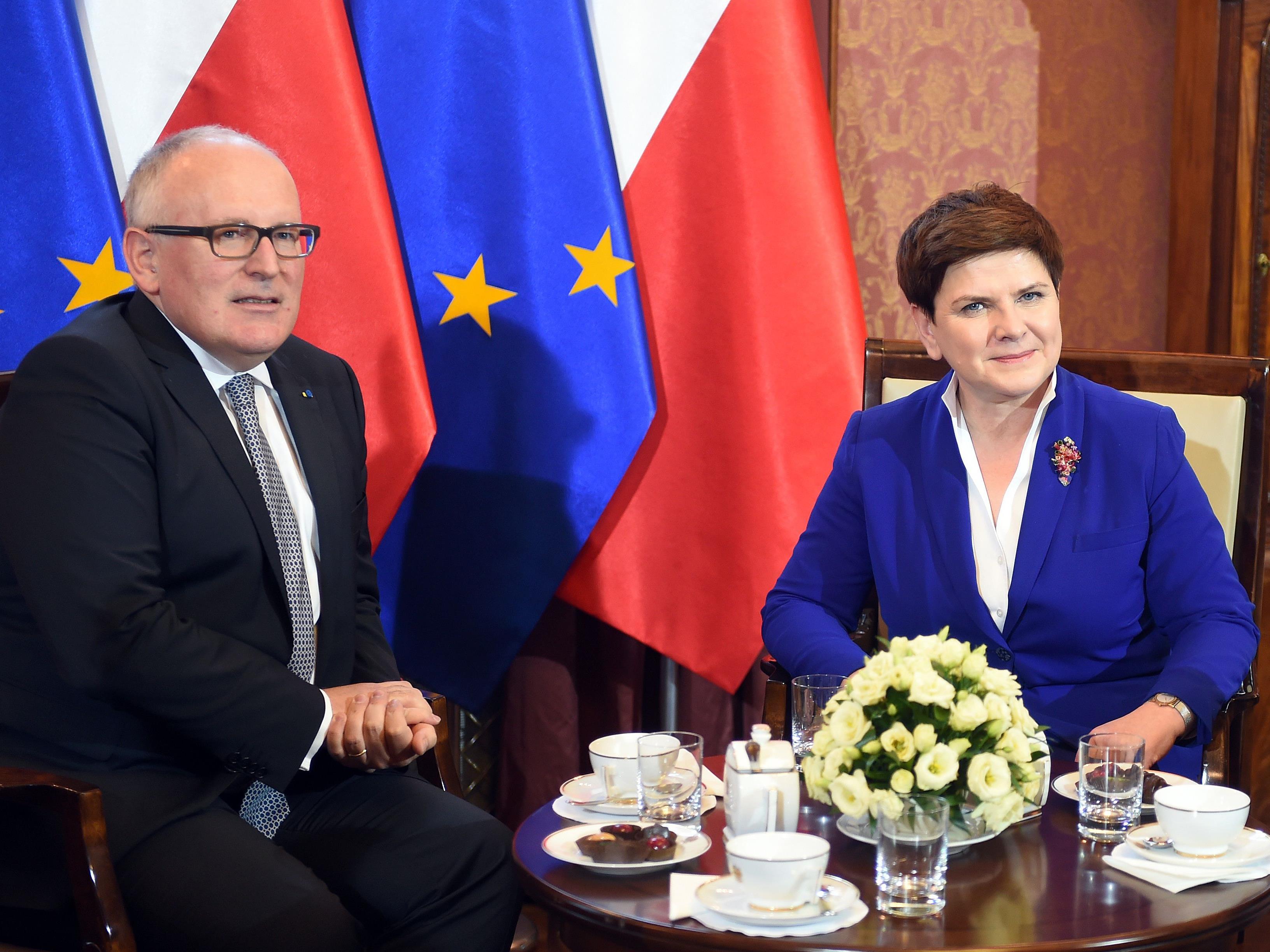 Der Streit zwischen Polen und der EU-Kommission um die Justizreform in Warschau eskaliert.