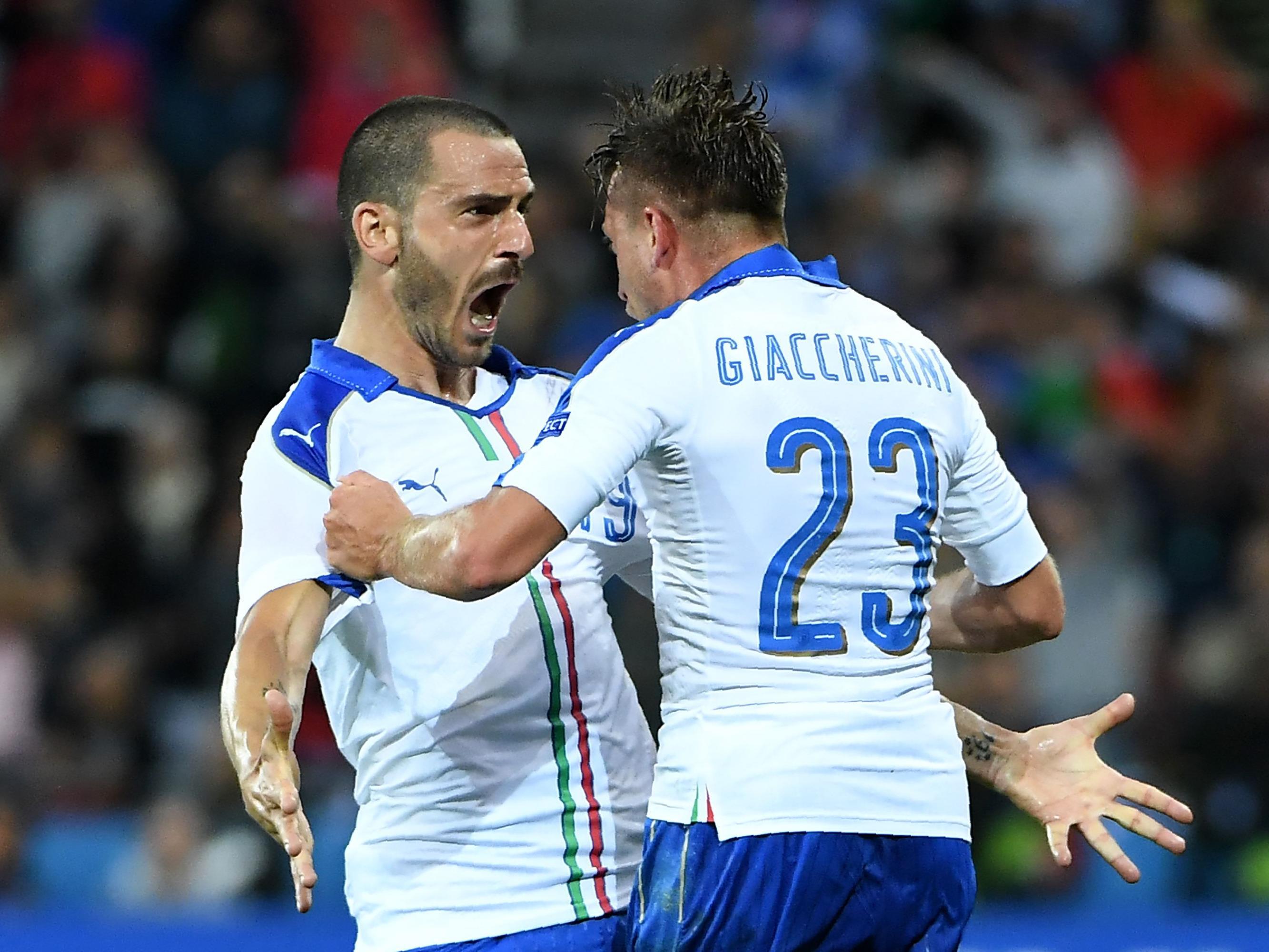 Italien feiert einen 2:0-Sieg über Belgien.