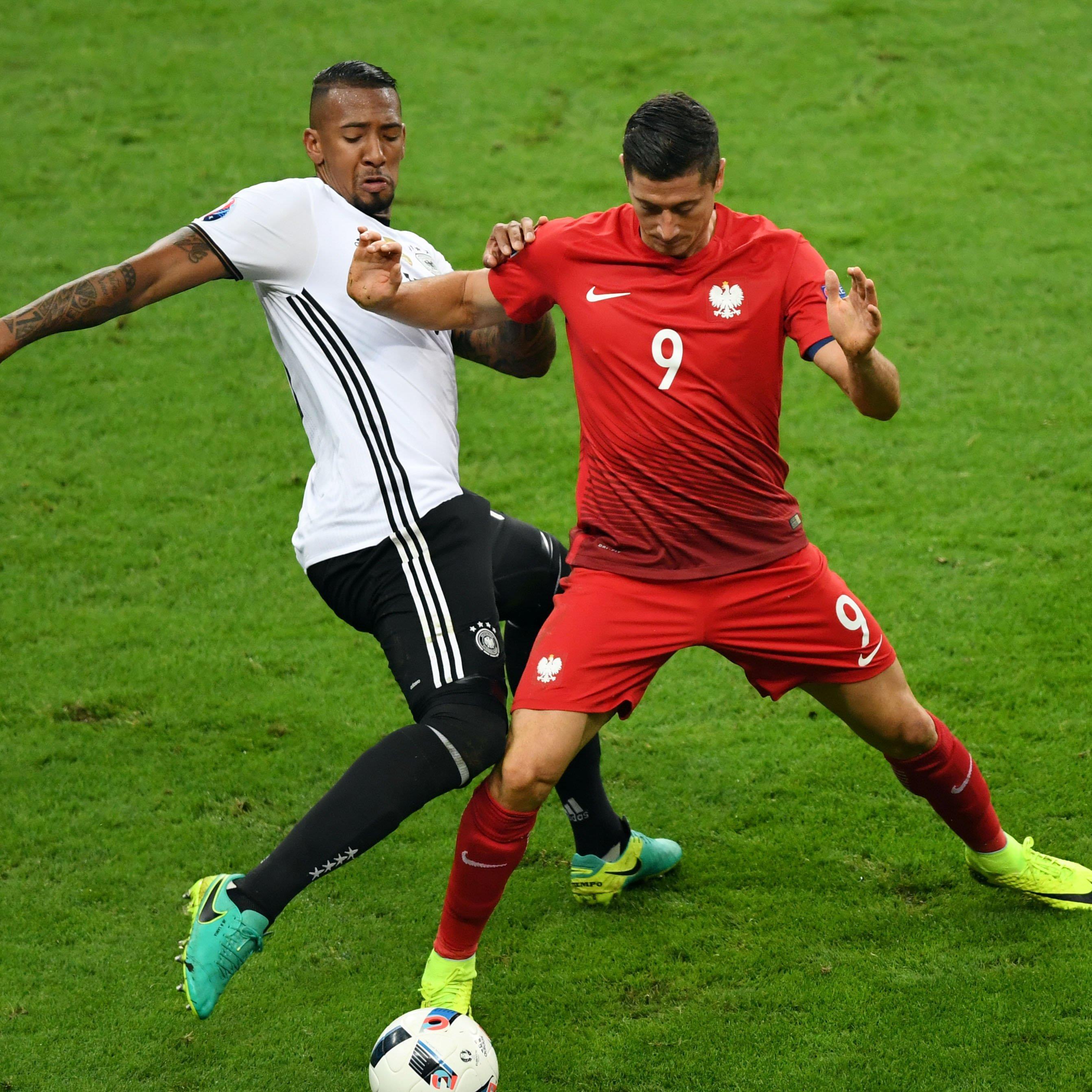 Lewandowski konnte sich gegen Boateng nur selten durchsetzen.