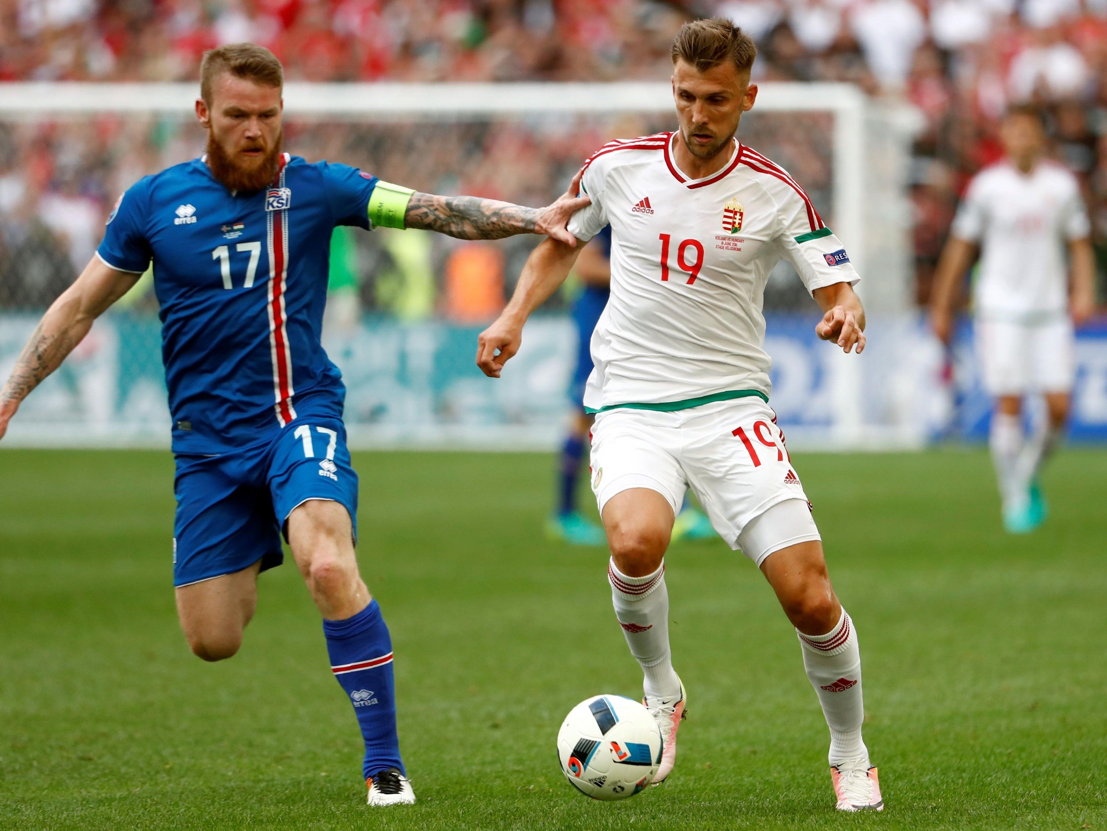 EM-Gruppe F: Island und Ungarn trennen sich 1:1.