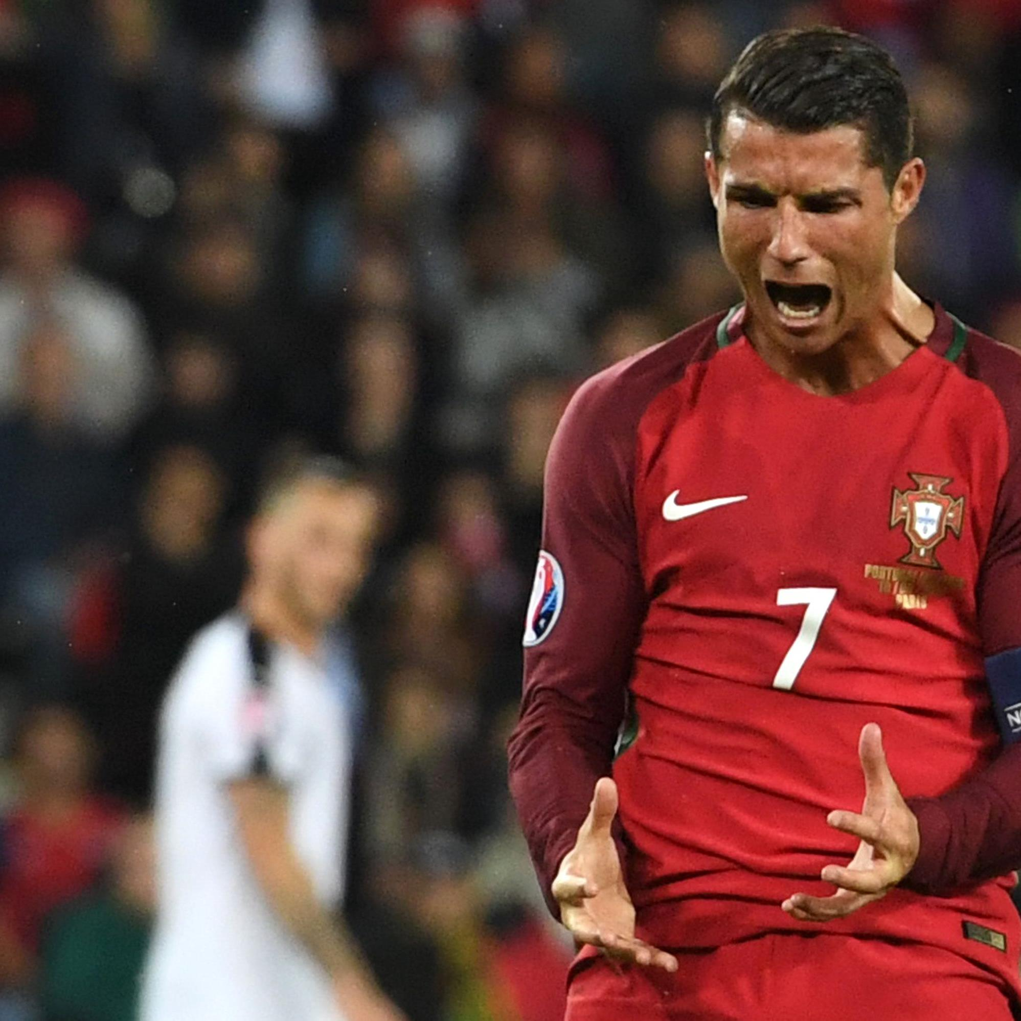 Christiano Ronaldo scheint nach zwei Punktenaus zwei Spielen irgendwie unzufrieden zu sein.