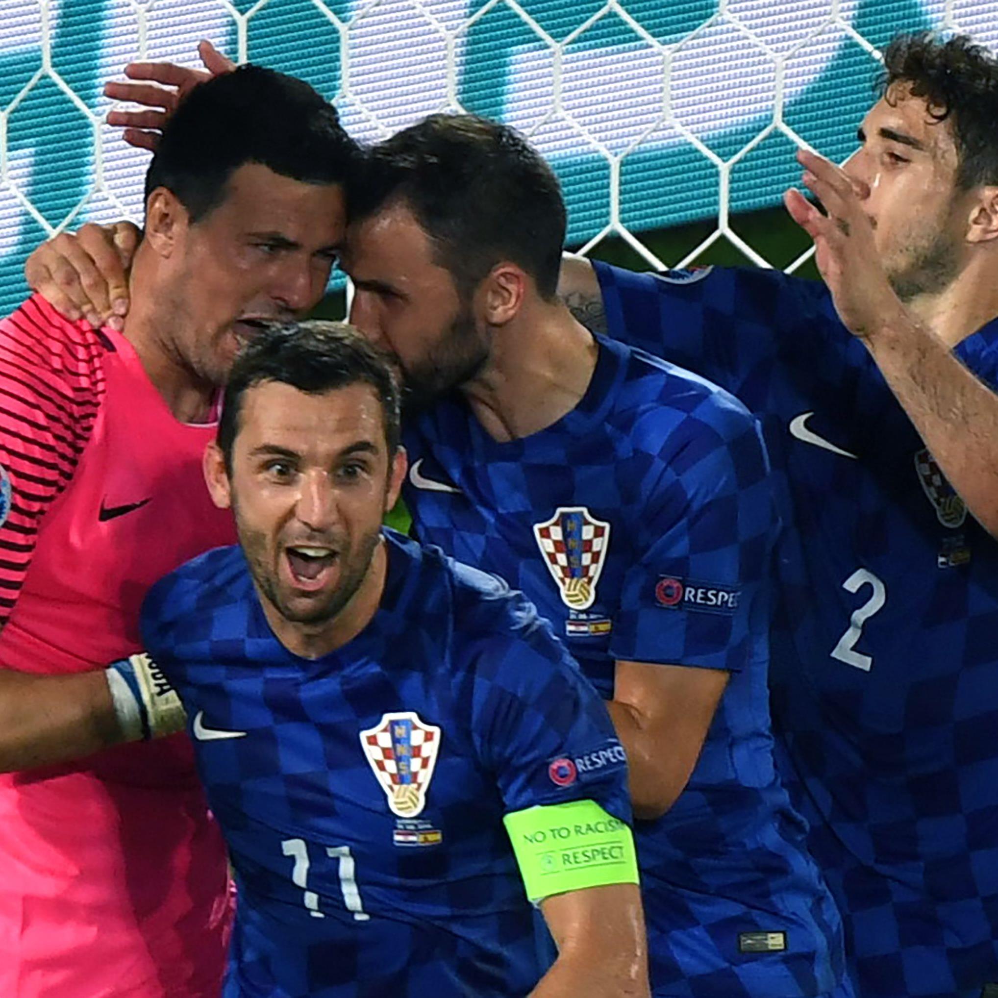 Kroatien jubelt nach dem Sieg über den Gruppensieg.