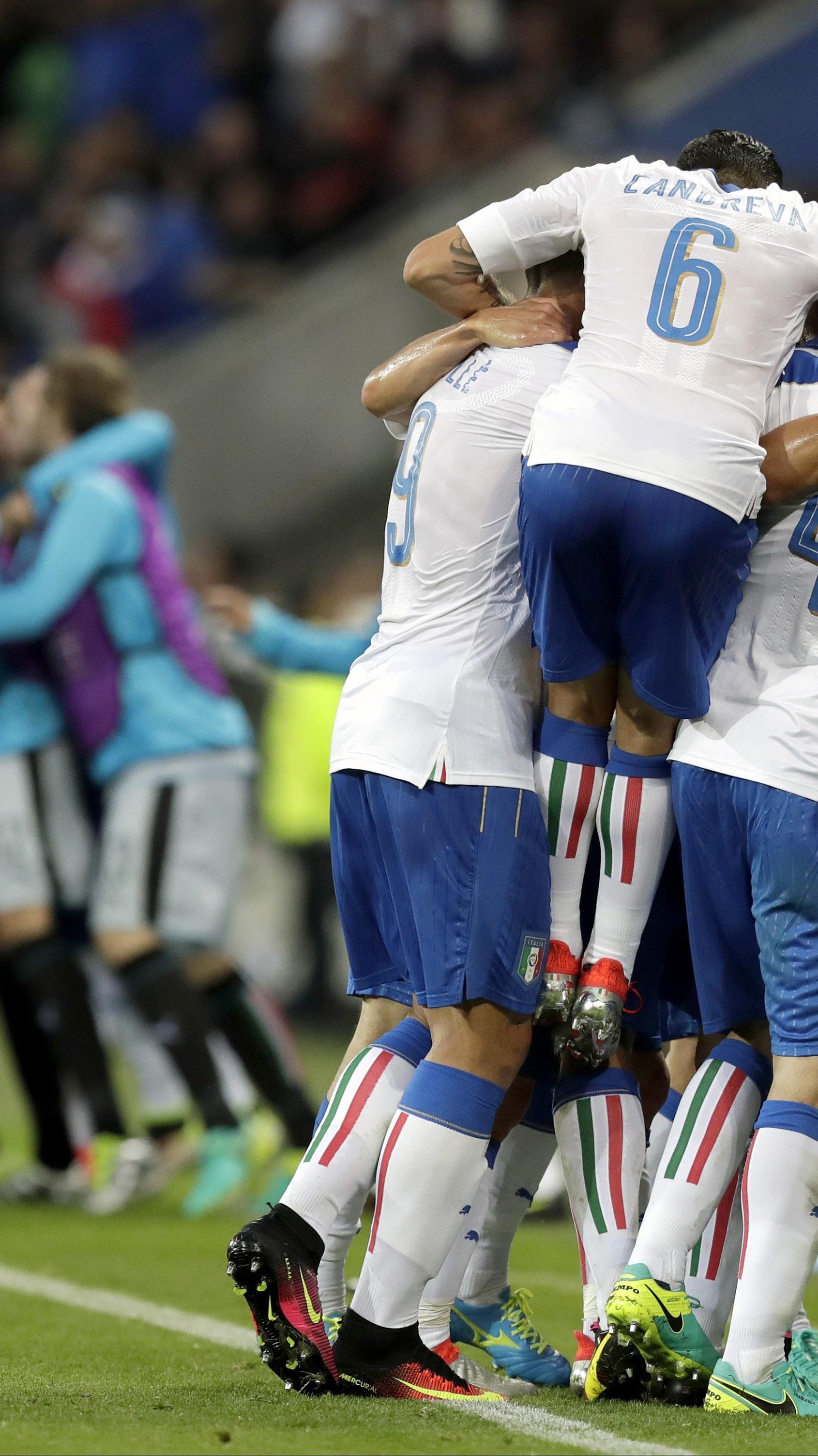 Die Italiener jubelten über einen wichtigen 2:0-Sieg gegen Belgien.
