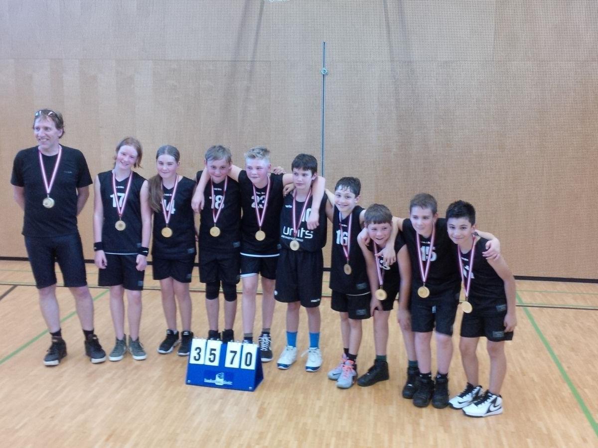 Die erfolgreiche U12 der Baskets Feldkirch