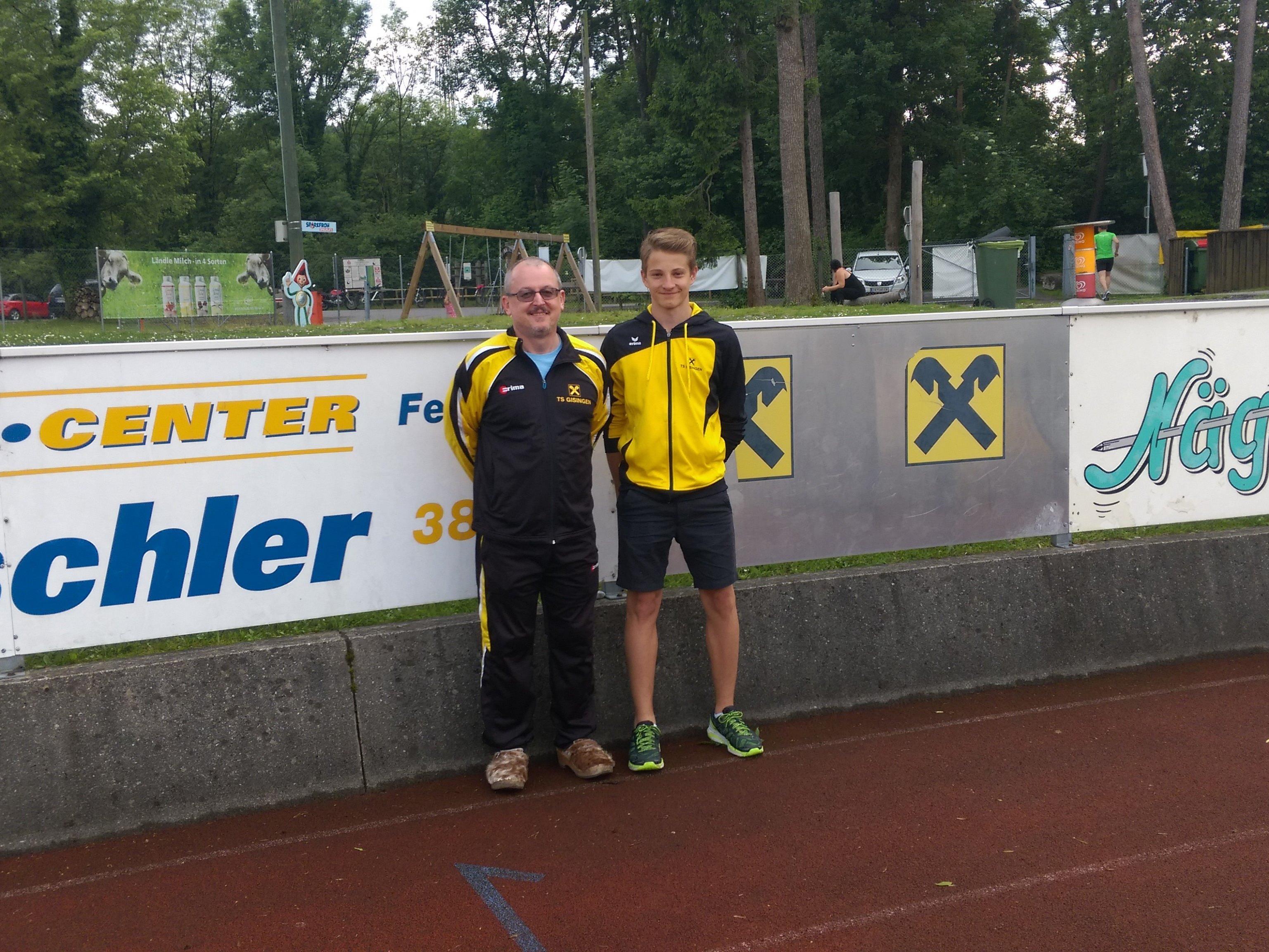 Trainer Wolfi mit Daniel
