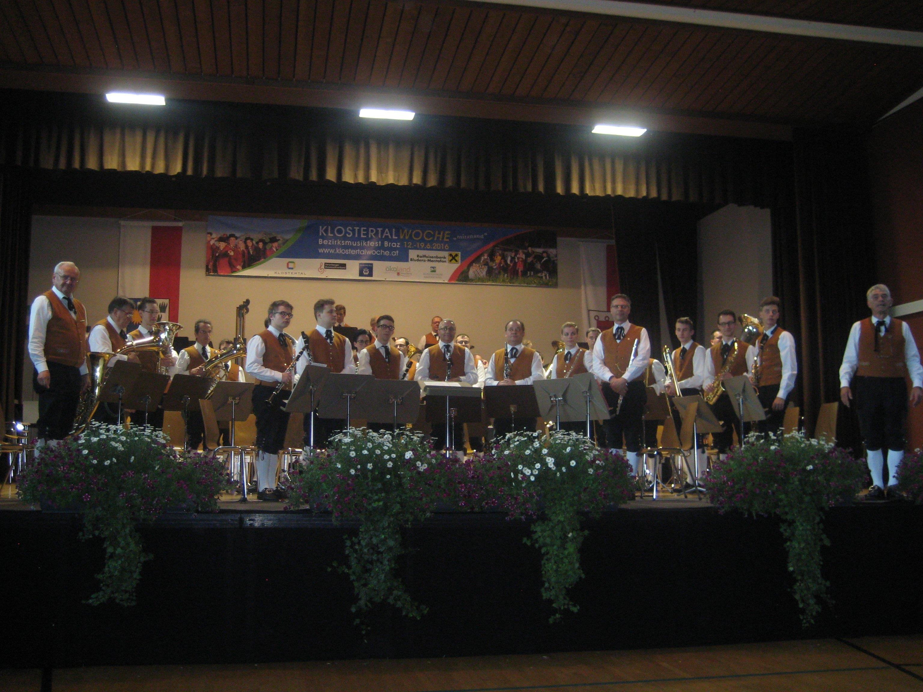 Die Harmoniemusik Bürs erreichte beim Wertungsspiel in Braz den ersten Platz.