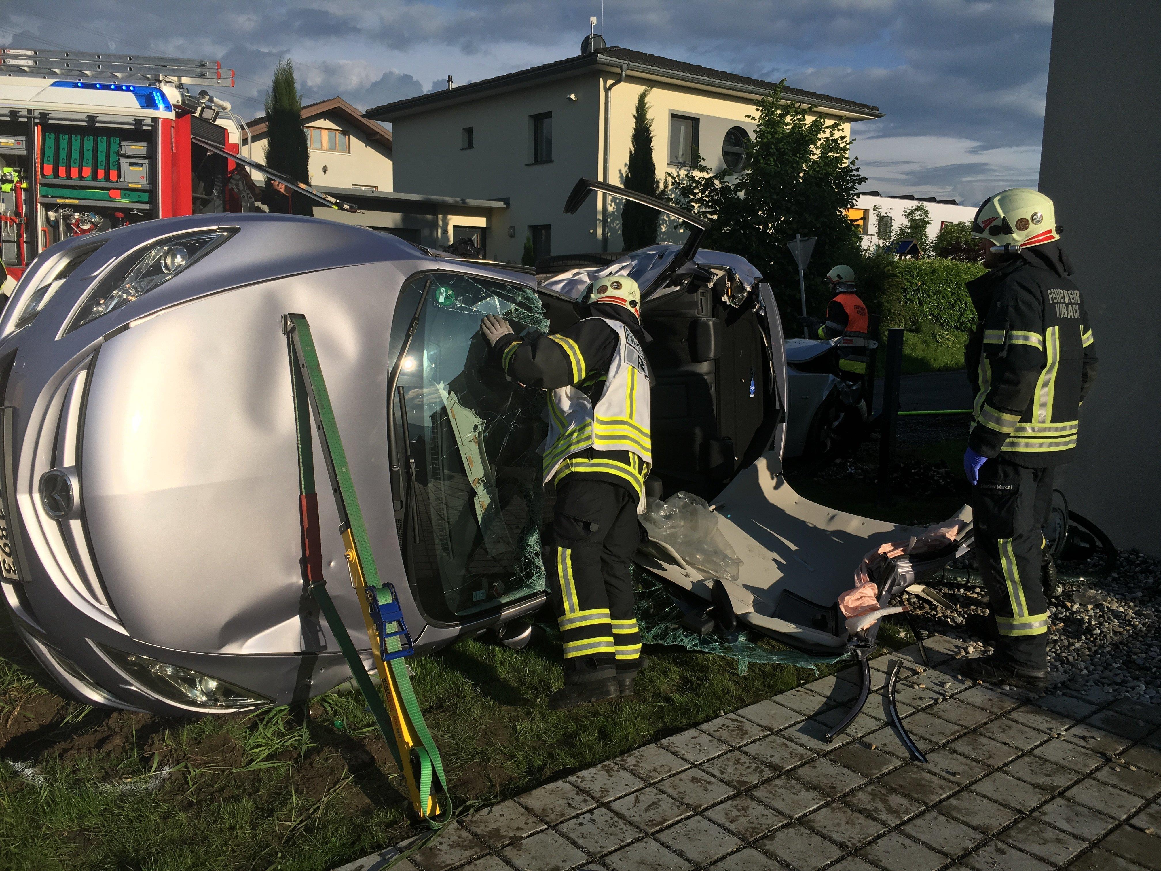 Am Donnerstagabend kam es in Koblach zu einem schweren Verkehrsunfall.