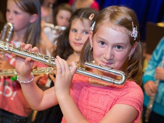 Das Schlusskonzert der Musikschule Bludenz.