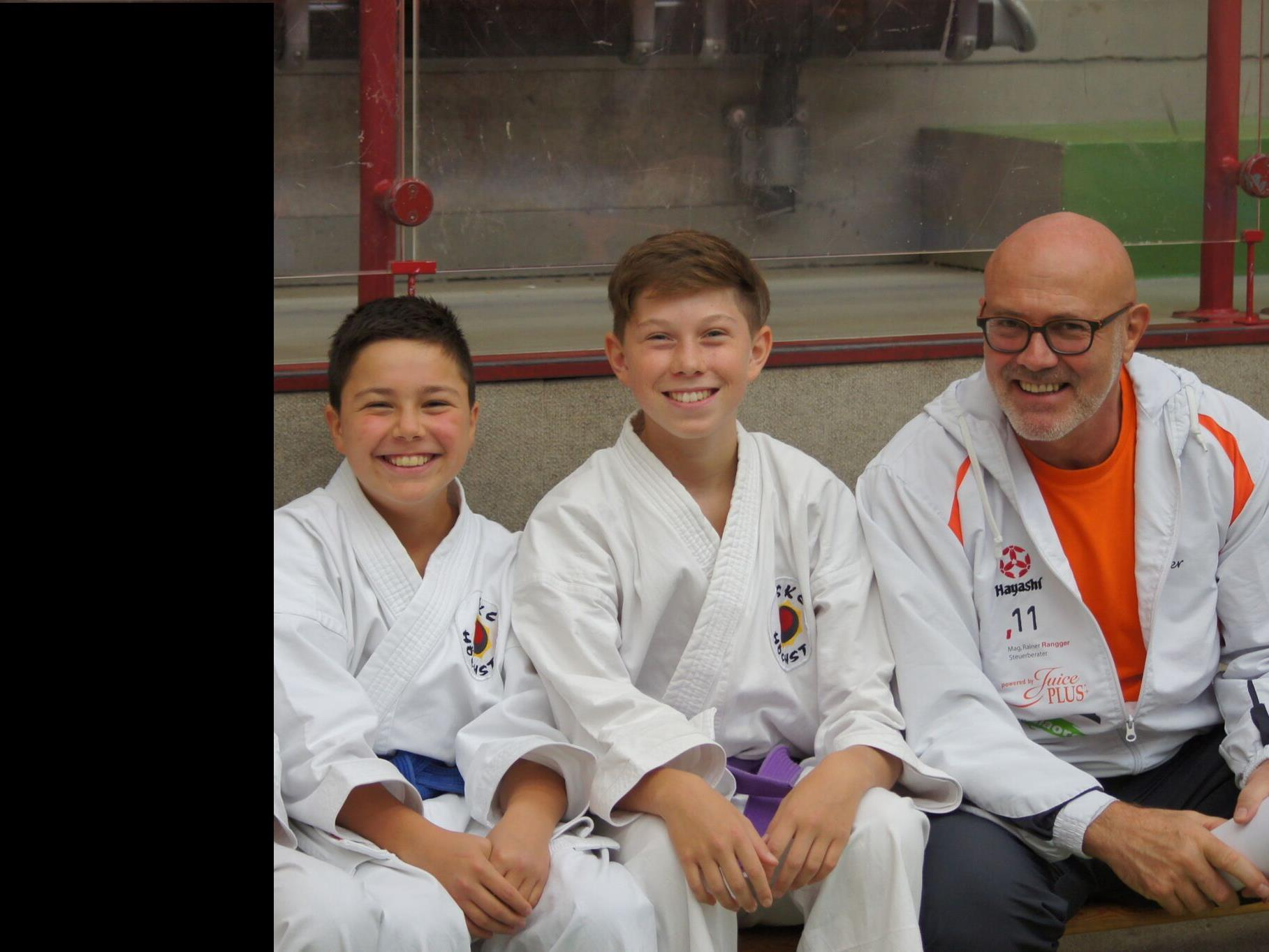 Deger Atilla, Wechner Matthias und Trainer Braitsch Walter