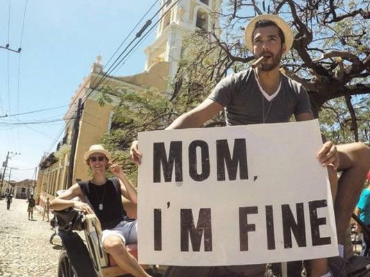 Mit seinen Botschaften sorgt Quiñonez dafür, dass seine Mutter stets über seine Reiseerlebnisse im Bilde ist.