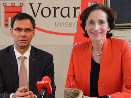Landeshauptmann Wallner und Bildungslandesrätin Bernadette mennel eröffneten die Landesberufschule in Feldkirch.