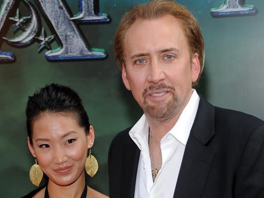 Hollywoodstar Nicolas Cage mit seiner Ex, Alice Kim.