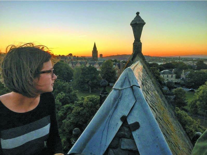 Blick über Edinburgh: Larissa (21) aus Hittisau studiert in der schottischen Hauptstadt Sozialpolitik und Politikwissenschaften.