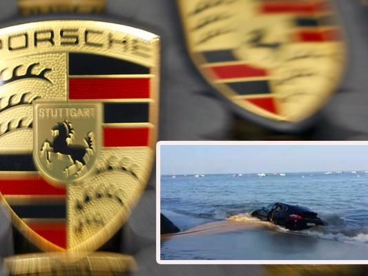 Hier versinkt die Luxus-Limousine im Meer.