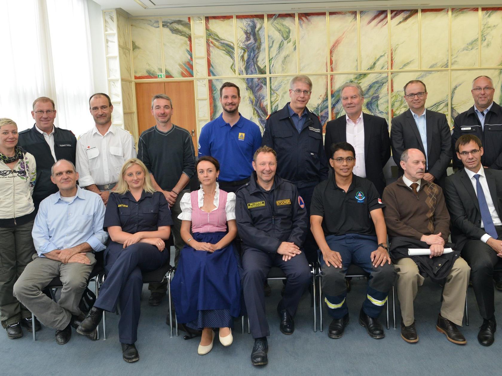 Empfang im Landhaus zur IER Reklassifizierung der Search and Rescue Unit Vorarlberg
