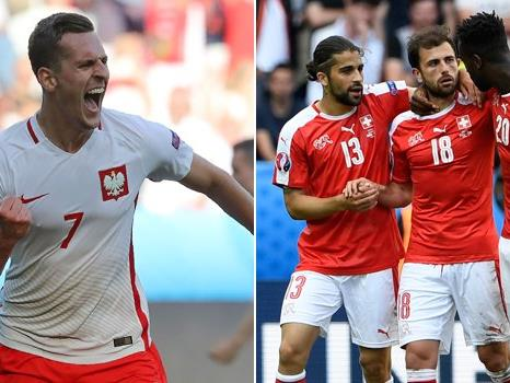 Am Samstag treffen die Schweiz und Polen im ersten EM-Achtelfinale aufeinander.