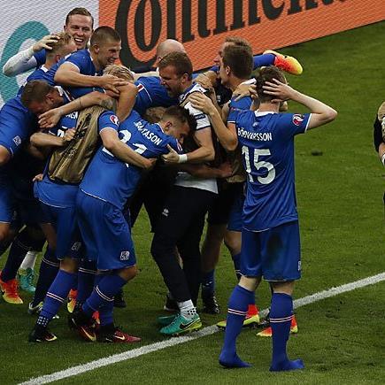 Beim Siegertor für Island war der Jubel groß