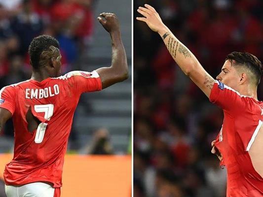 Den Schweizern rissen beim Match die Trikots ein.