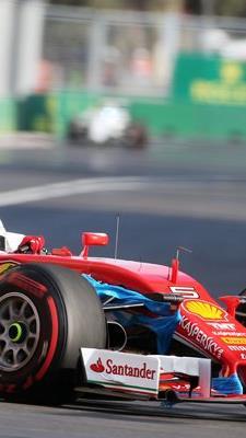 Sebastian Vettel lande in Baku hinter Nico Rosberg auf dem zweiten Rang.