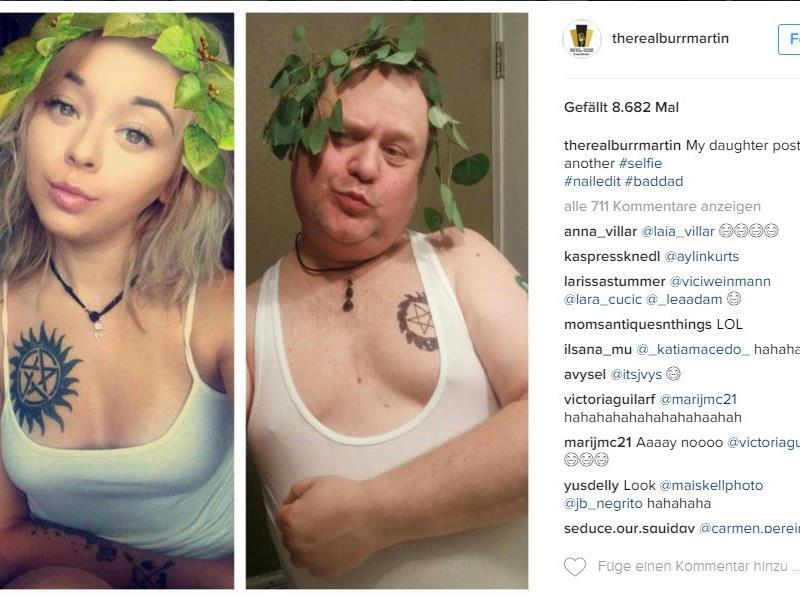 #baddad Chris Martin im Element auf Instagram.
