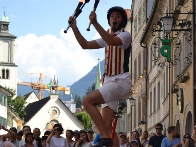 Feldkirch wird zwei Tage lang zum Straßentheater.