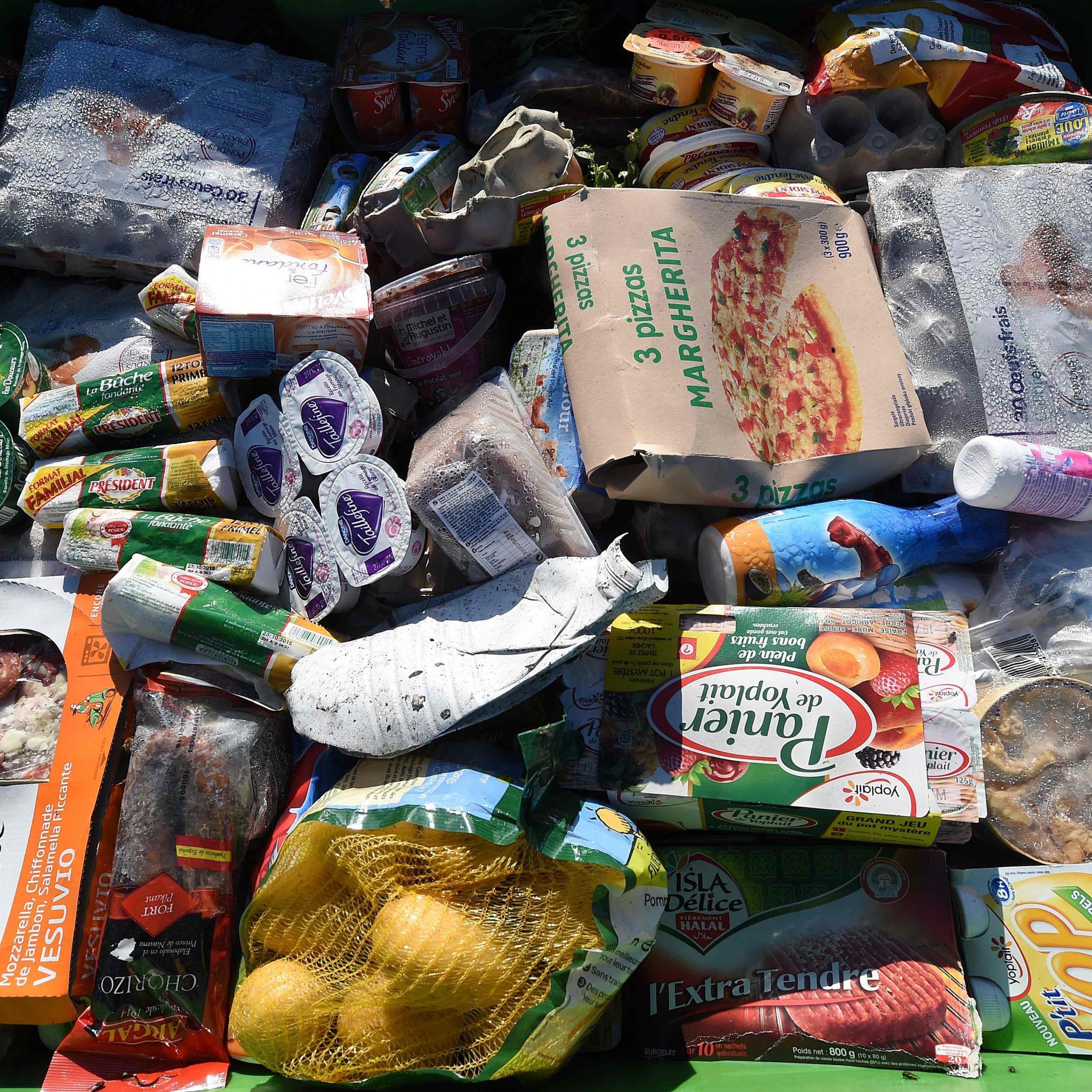 Tonnen von noch genießbaren Nahrungsmitteln landen im Müll