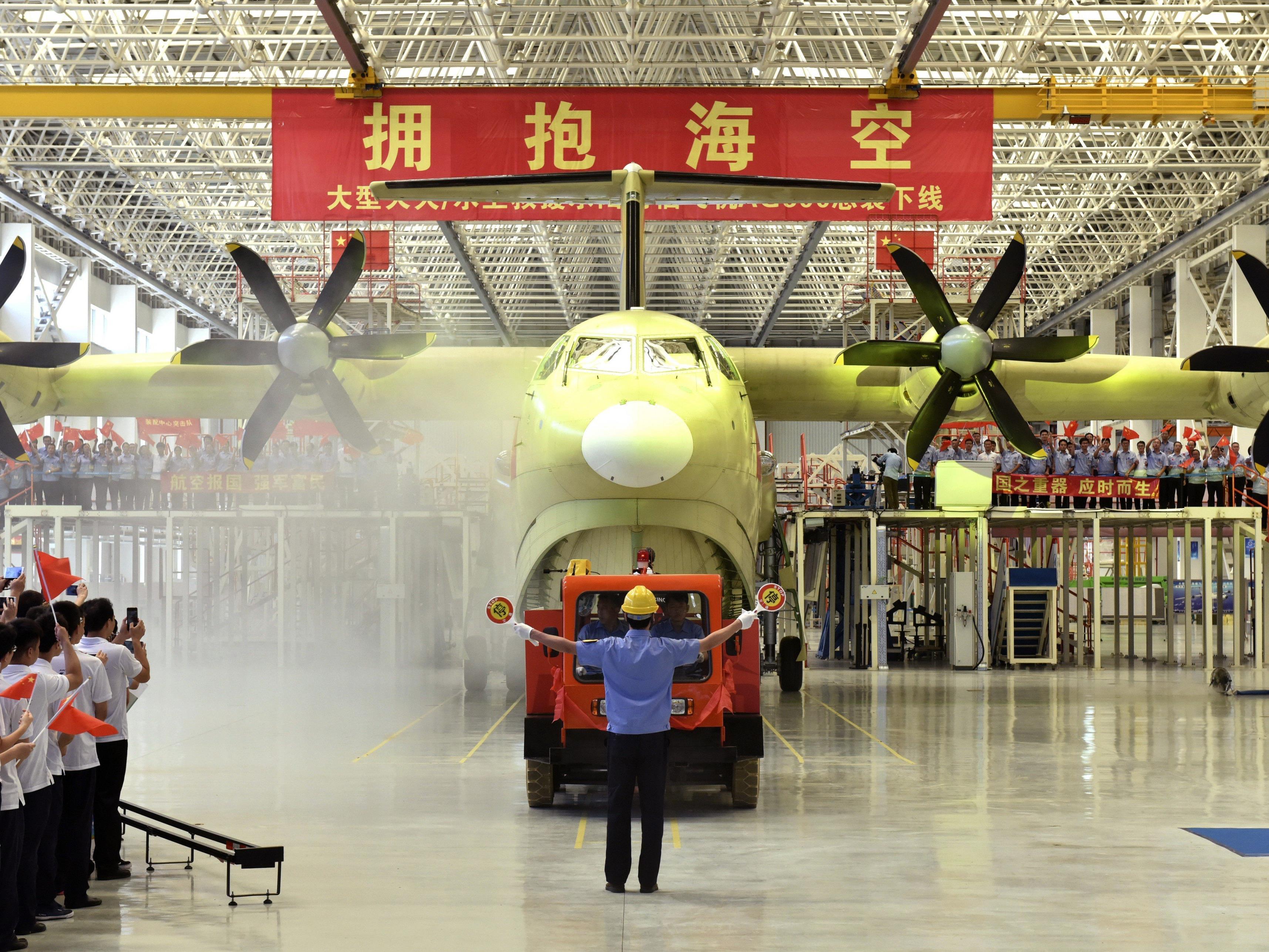 Die AG600 gilt als das derzeit größte Wasserflugzeug der Welt.