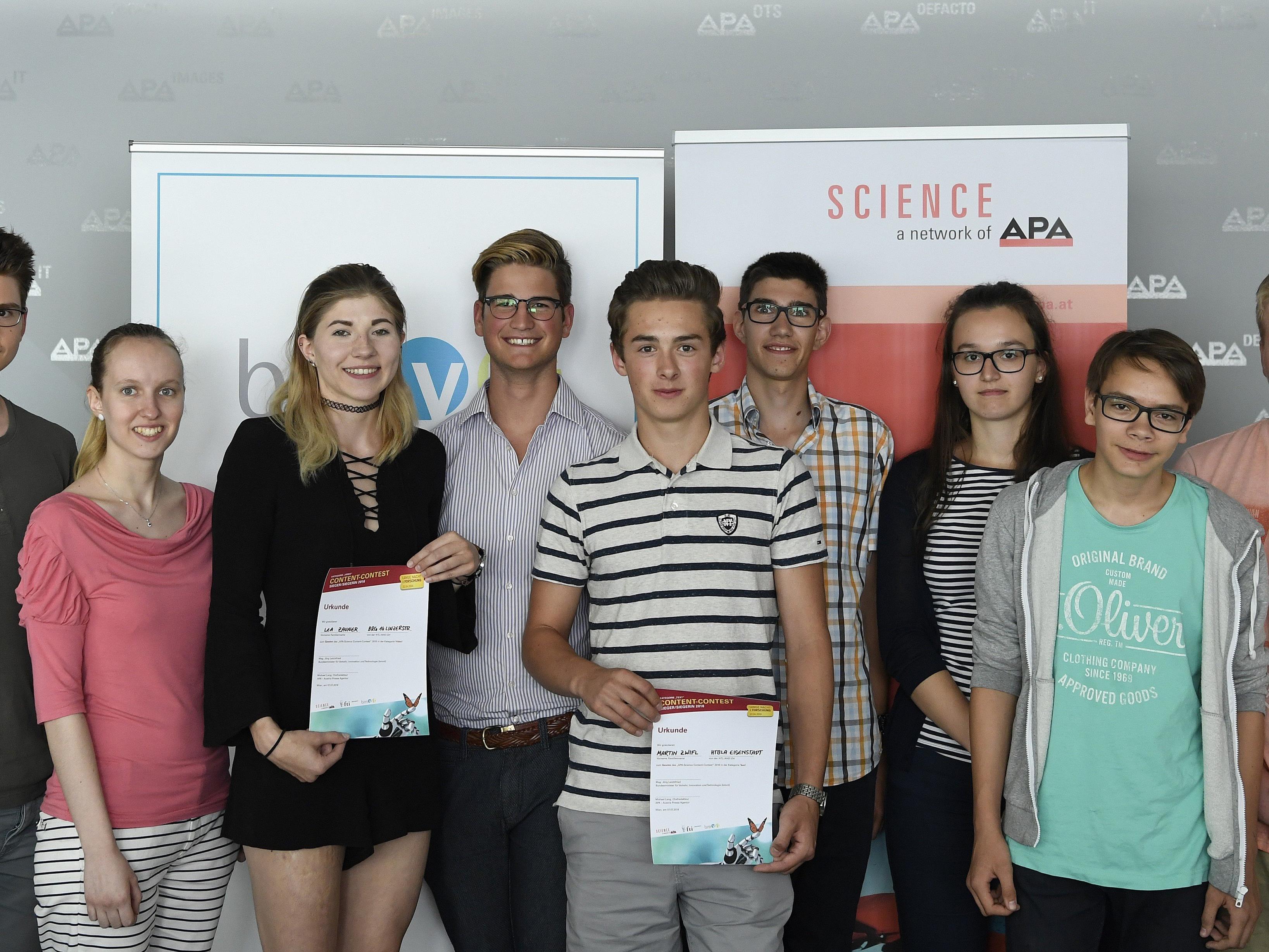Die Gewinner der des APA-Science Content-Contest wurden gekürt