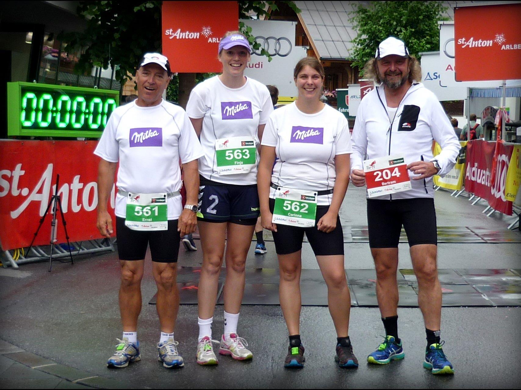 Alle Jahre wieder - die Milka Läufer beim Arlberger Jakobilauf.
