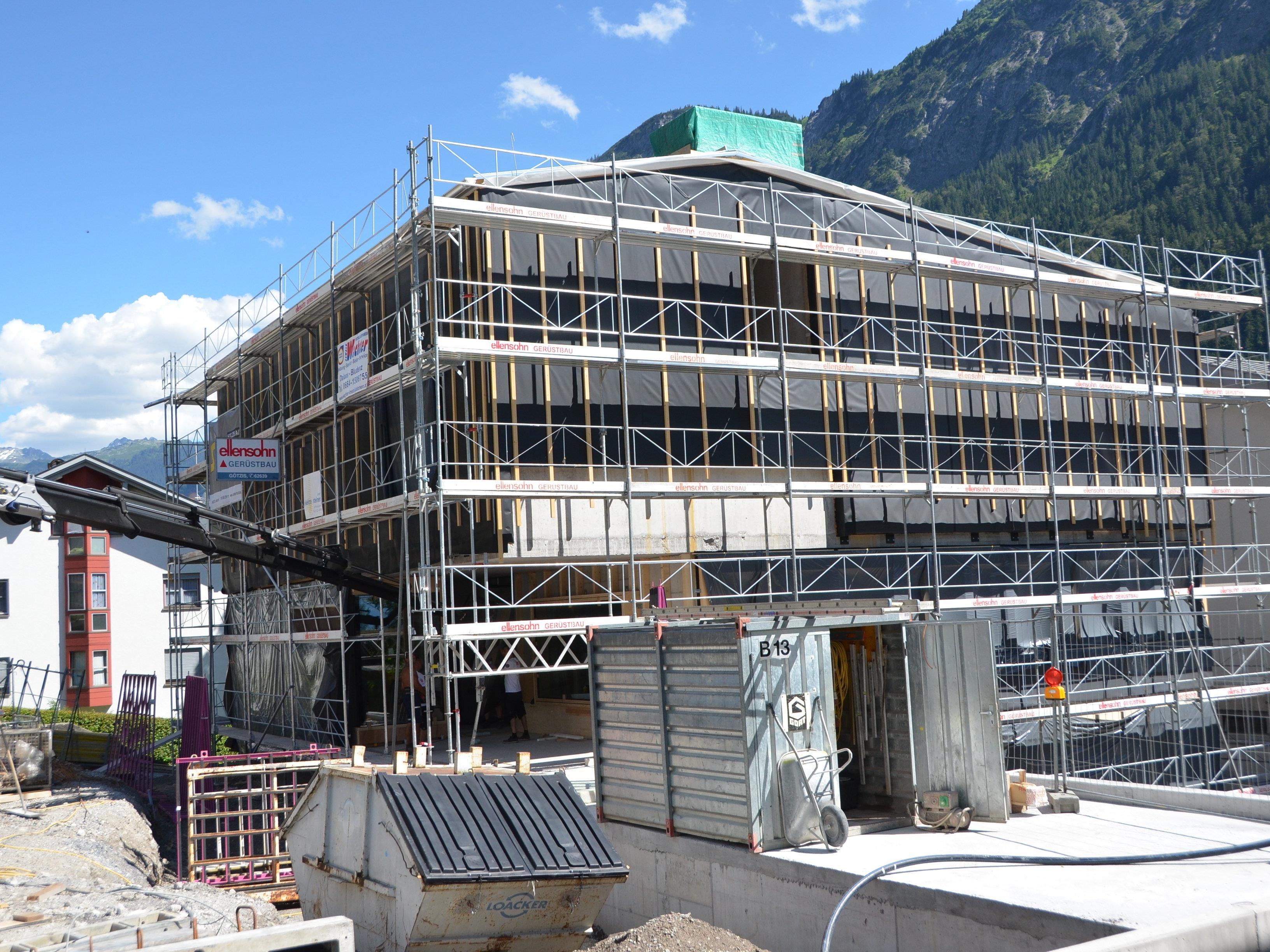 Gemeindezentrum Innerbraz Baufortschritt Juli 2016