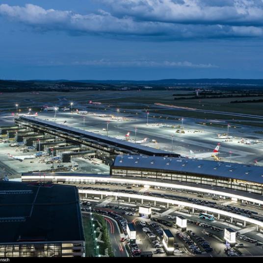 Der Flughafen Wien wirbt als Standort für britische Unternehmen