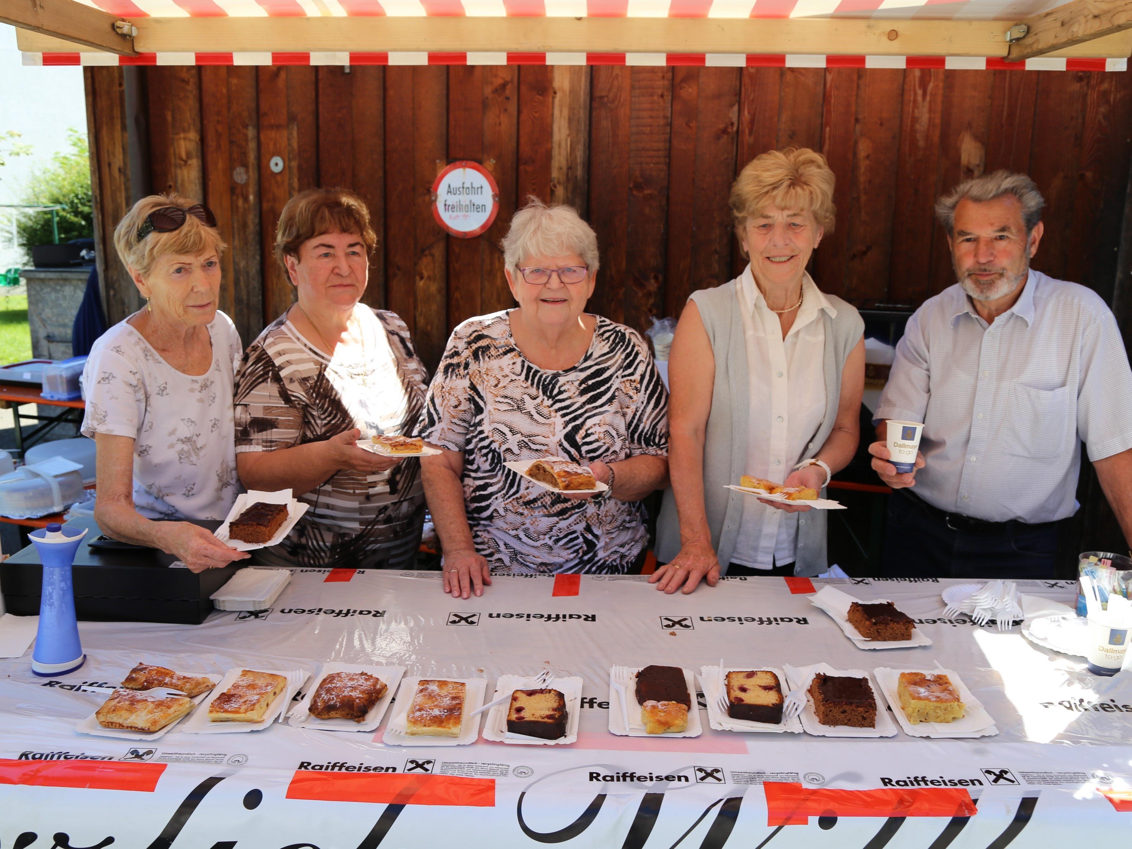 Der Pensionistenverband Feldkirch versorgte die Gäste mit Kuchen und Kaffee.