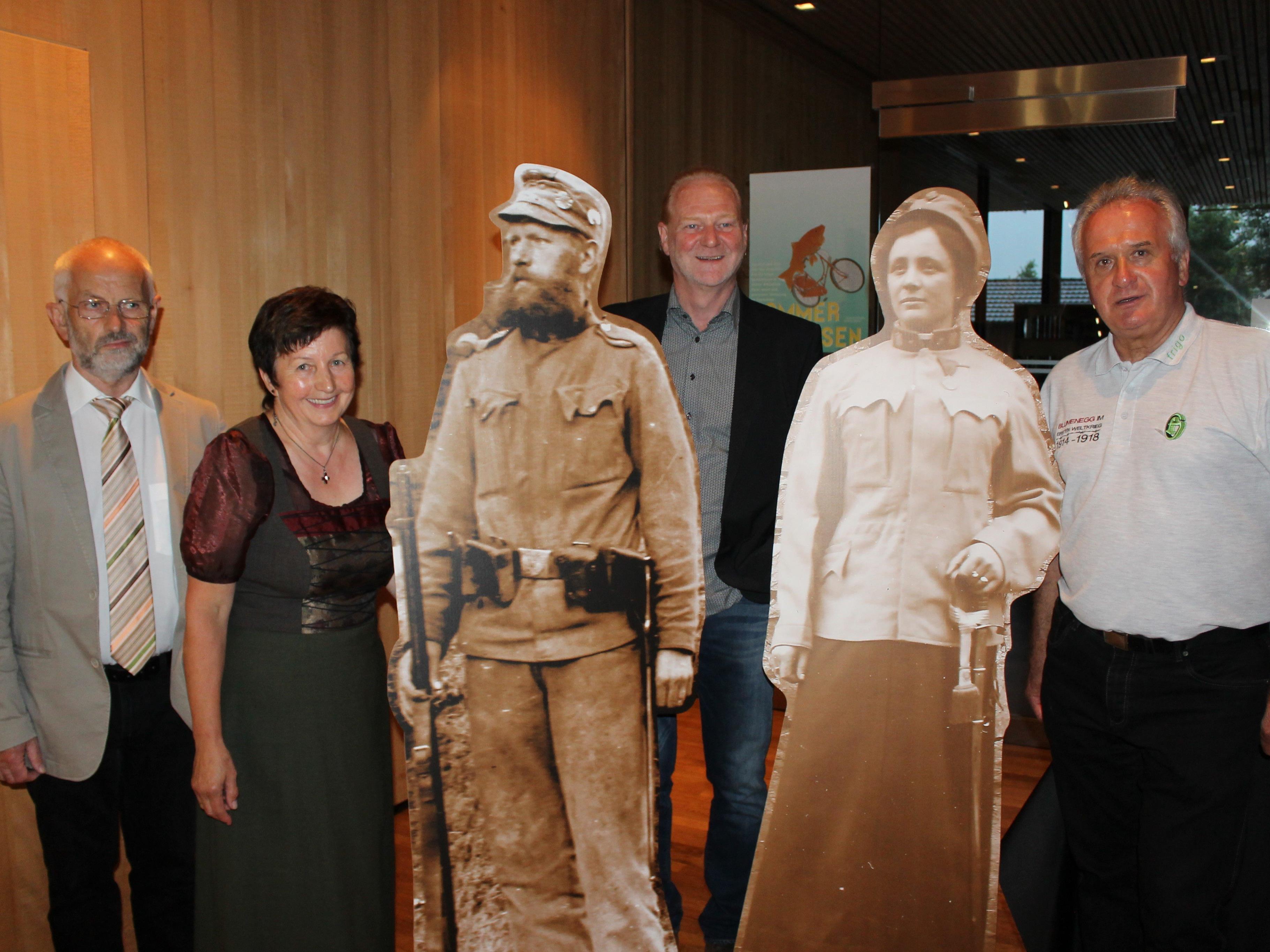 v.li.Wilfried Ammann, Marianne Pfefferkorn, Johannes Wucher und Manfred Sutter