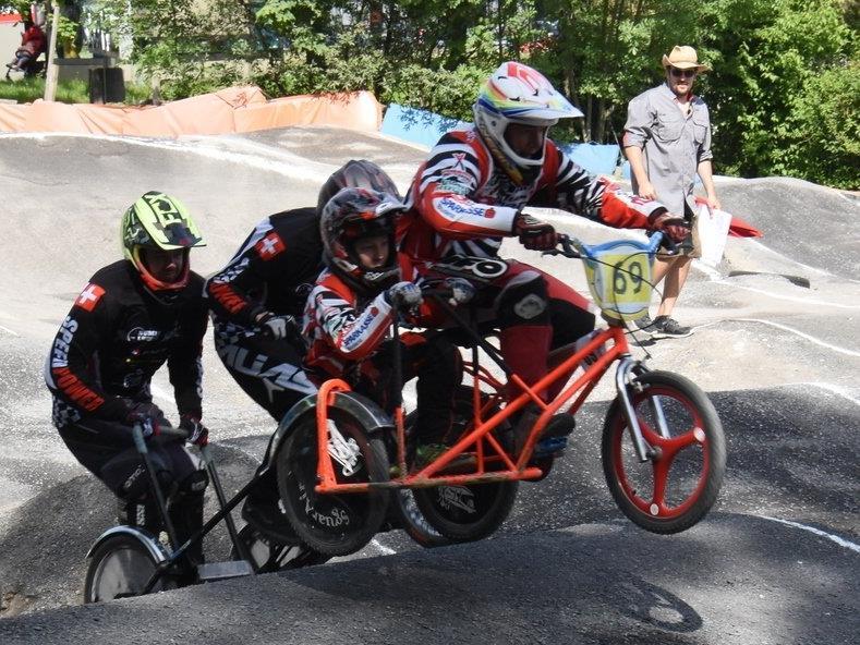 BMX-Seitenwagengespann Ivo und Felix Mähr
