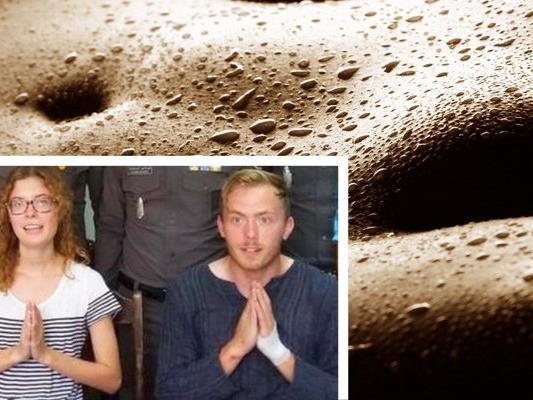 Das Touristen-Paar wurde in Thailand beim Oral-Sex erwischt und musste sich öffentlich entschuldigen.