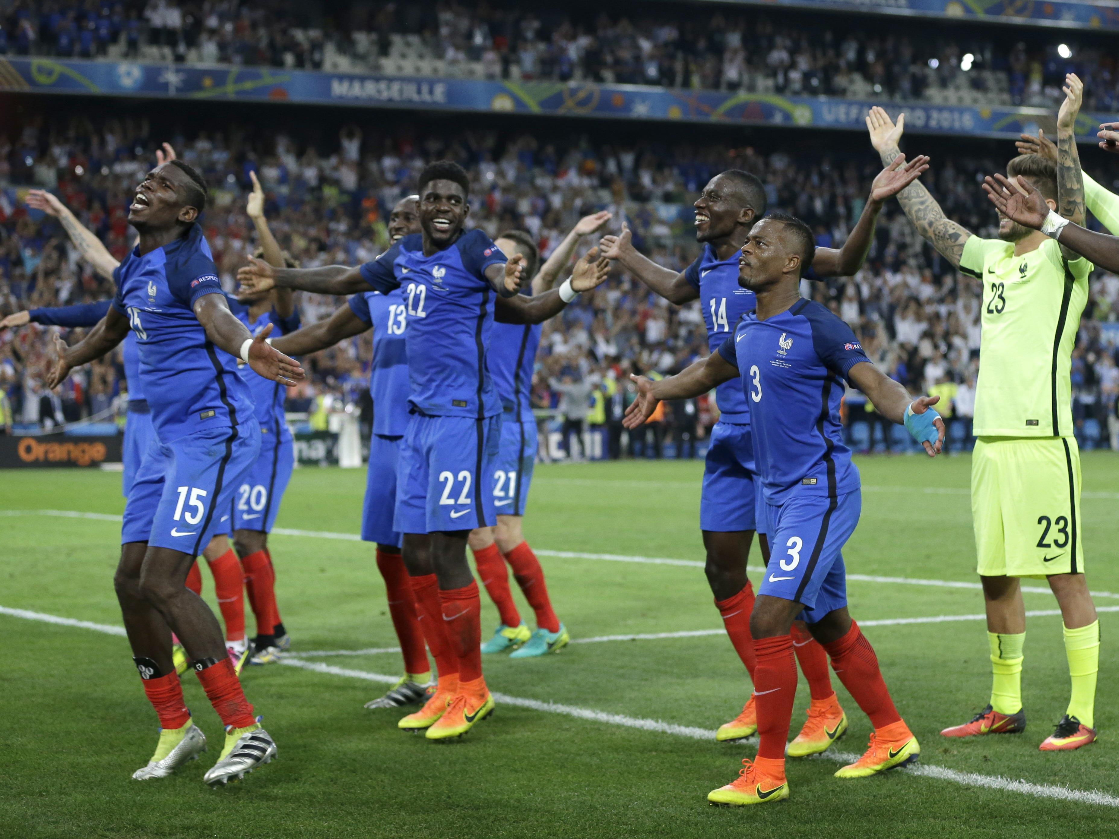 Frankreich jubelt nach #GERFRA Island-Huh.