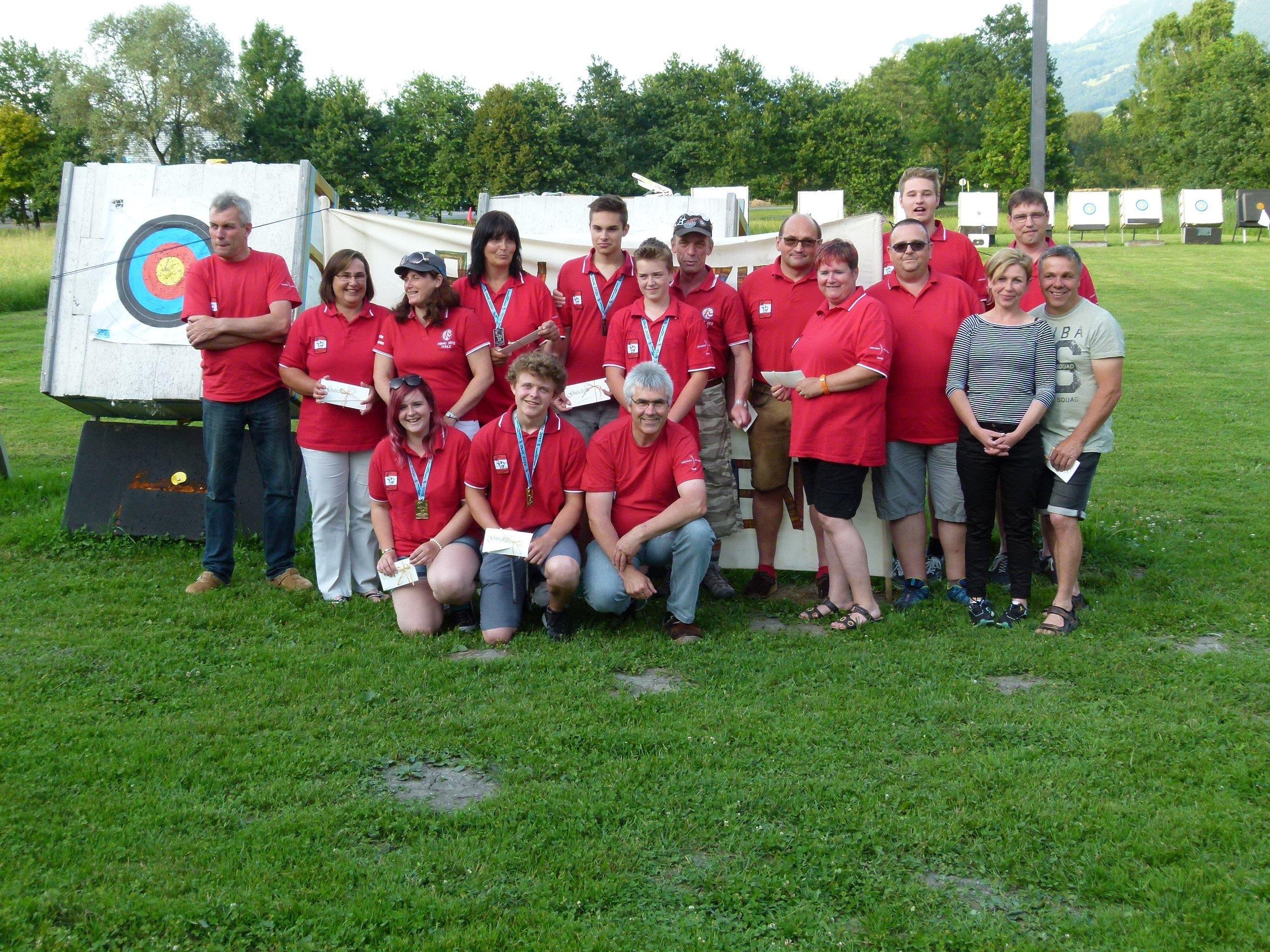 Teilnehmer bei der EBHC in Saalbach - Hinterglemm