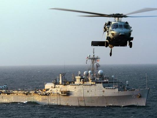 Ein US-Kriegsschiff.