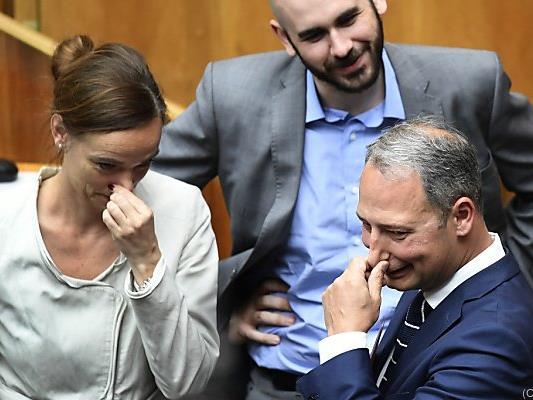 Bildungsministerin Hammerschmid und SPÖ-Klubobmann Schieder