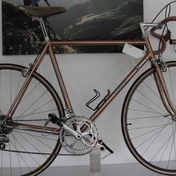 Mit diesem Rad bestritt Andreas Hämmerle zahlreiche Radrennen.