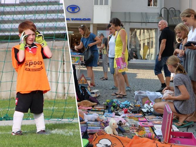 Der Familiensommer Dornbirn mit Fußball-Camp und Kinderflohmarkt ist gestartet.
