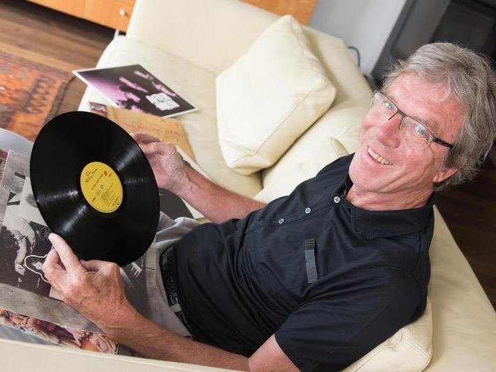 Seine Schallplattensammlung hütet Albert Lingg wie einen Schatz, enthält sie doch viele besondere Stücke.