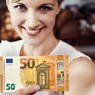 Das ist der neue 50-Euro-Schein, der ab dem 4. April 2017 in Umlauf gebracht wird.