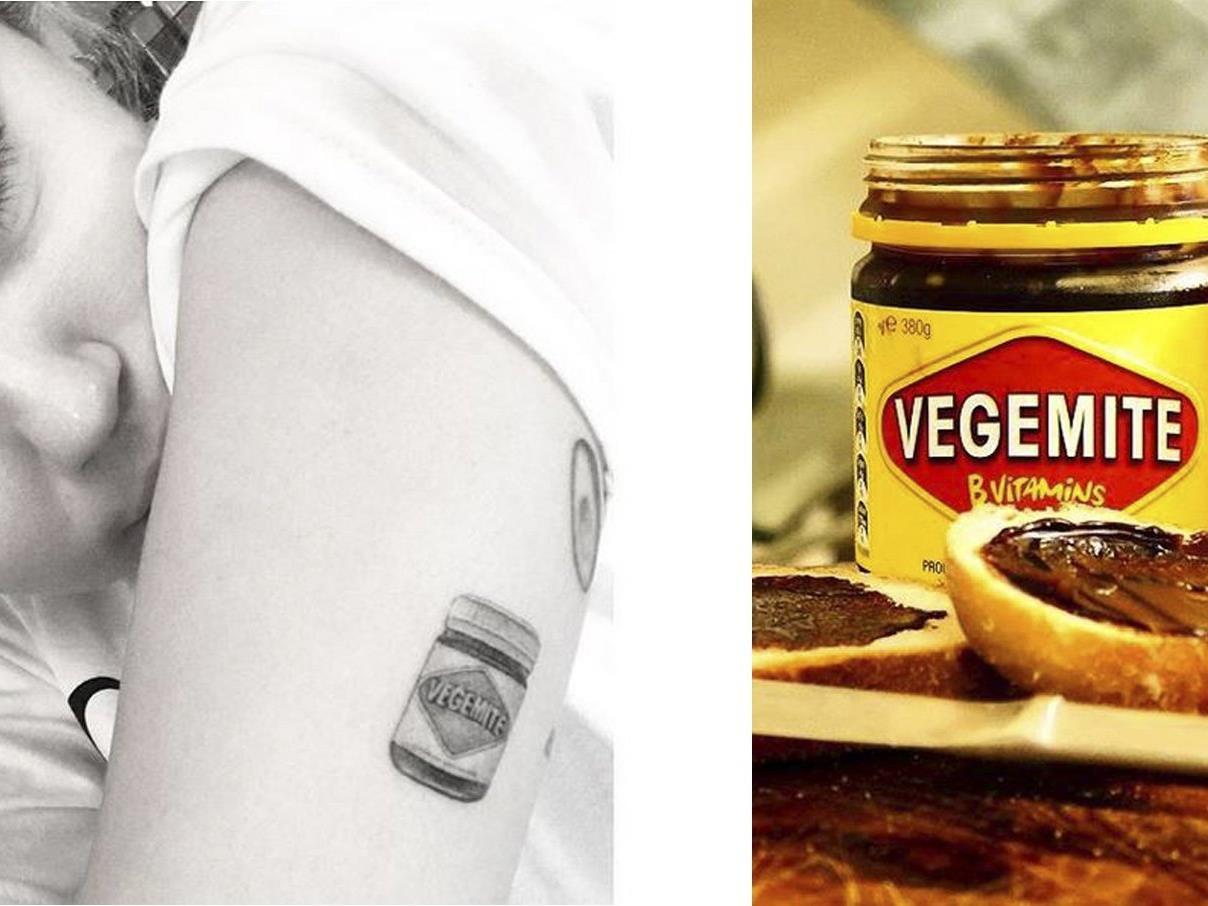 Ein Brotaufstrich ziert nun Mileys Oberarm