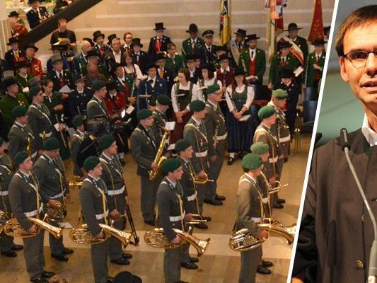 Die Vorarlberger Blasmusik bedankte sich bei allen Verantwortlichen für den Erhalt der Militärmusik mit einem Konzert im Bregenzer Landhaus.
