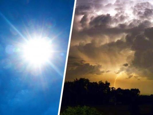 """Hoch """"Burkhard"""" bringt sommerliche Temperaturen und Unwettergefahr."""