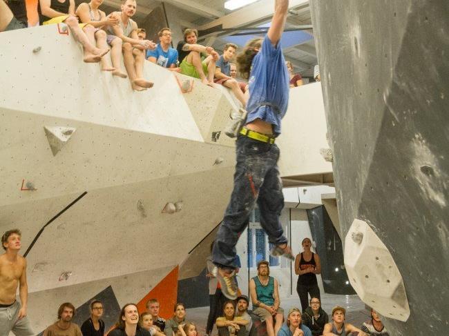 Die Kletterer gaben beim Bewerb alles, und die Zuschauer wussten das Gesehene zu würdigen.