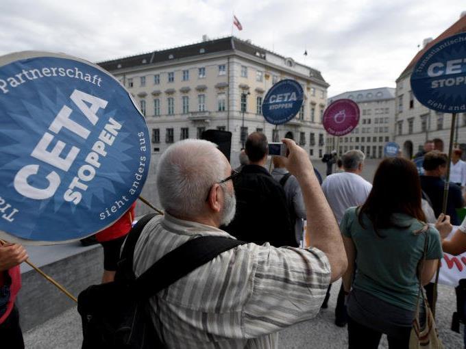 Proteste gegen das Freihandelsabkommen